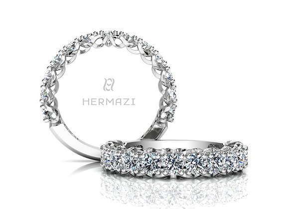 Hermazi® 'Infinite' Three-Quarter Way Diamond Band