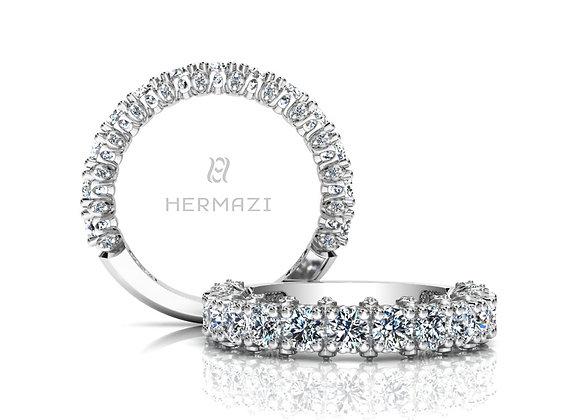 Hermazi® 'Stunning' Three-Quarter Way Diamond Band