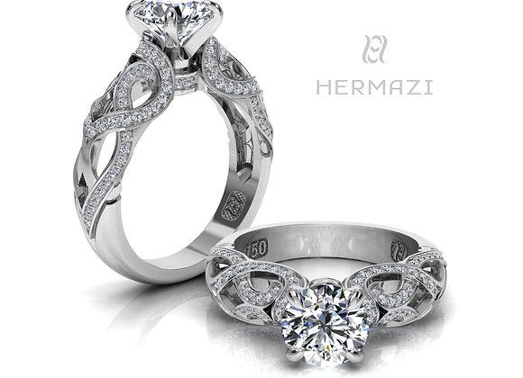 Hermazi® 'Palmetto Honey I.' Diamond Engagement Ring