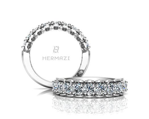 Hermazi® 'Infatuate' Halfway Diamond Band