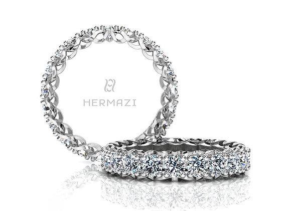 Hermazi® 'Infinite' Eternity Diamond Band