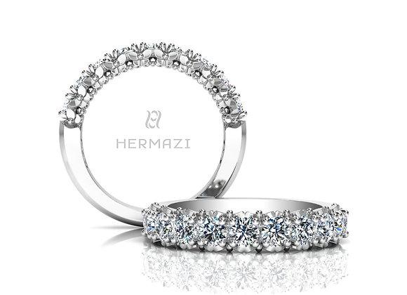 Hermazi® 'Blissful' Halfway Diamond Band