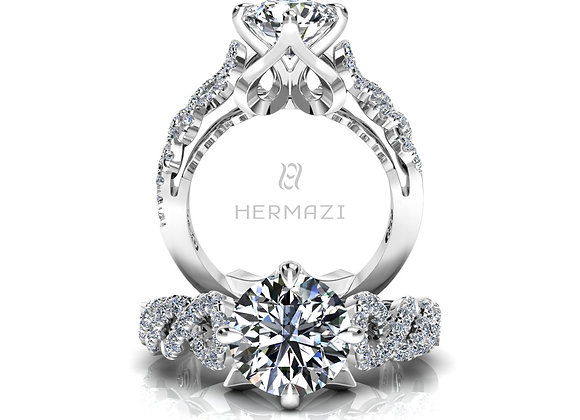 Hermazi® 'Pirouette' Diamond Engagement Ring