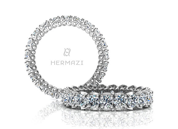 Hermazi® 'Unconditional' Eternity Diamond Band