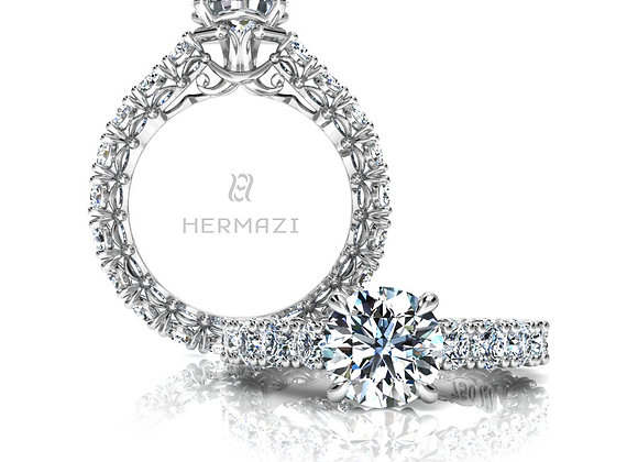 Hermazi® 'Noble' Eternity Diamond Engagement Ring