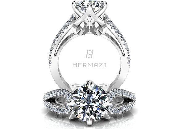 Hermazi® 'Plié' Diamond Engagement Ring