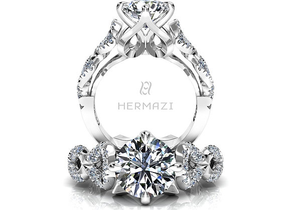 Hermazi® 'Glissade' Diamond Engagement Ring