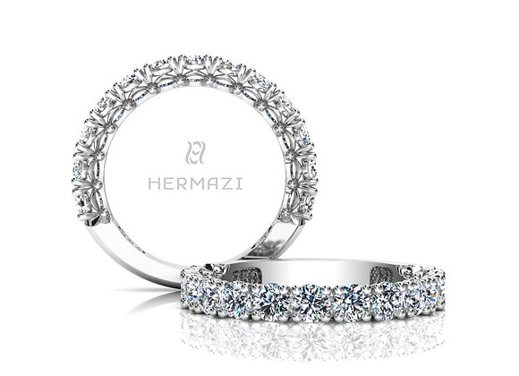 Hermazi® 'Noble' Three-Quarter Way Diamond Band