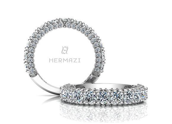 Hermazi® 'Everlasting' Three-Quarter Way Diamond Band