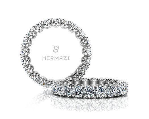 Hermazi® 'Admire' Eternity Diamond Band