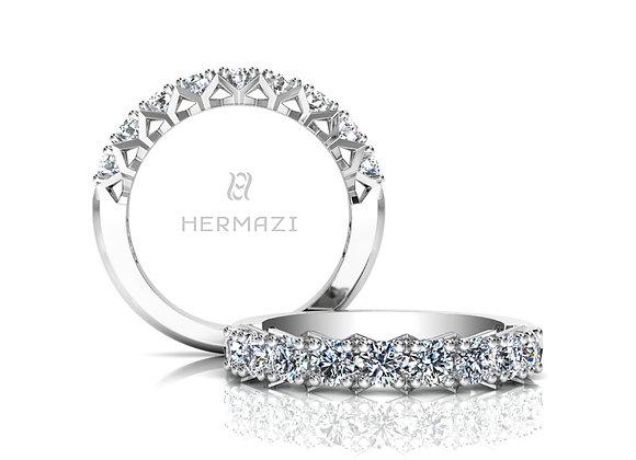 Hermazi® 'Divine' Halfway Diamond Band