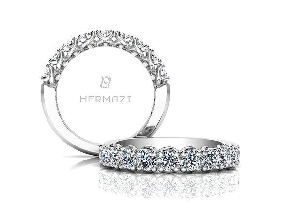 Hermazi® 'Embrace' Halfway Diamond Band
