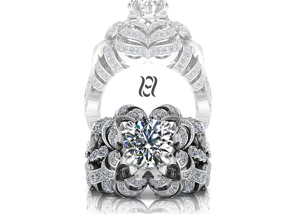 Hermazi® 'Camellia' Diamond Ring