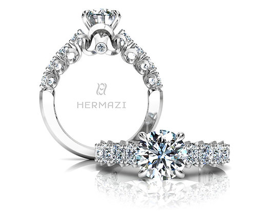 Hermazi® 'Elegance' Halfway Ring