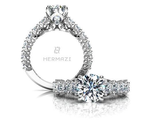 Hermazi® 'Unconditional' Three-Quarter Way Ring