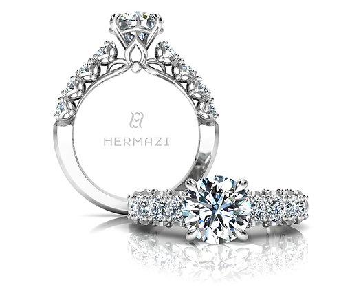 Hermazi® 'Serene' Halfway Ring