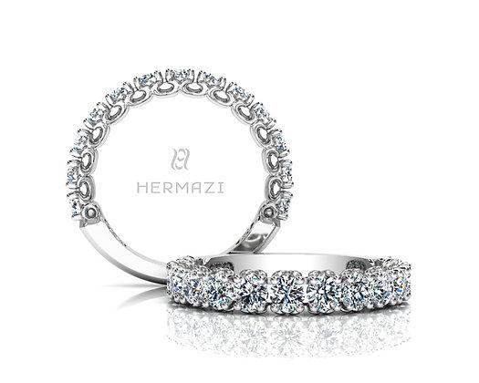 Hermazi® 'Compassion' Three-Quarter Way Diamond Band