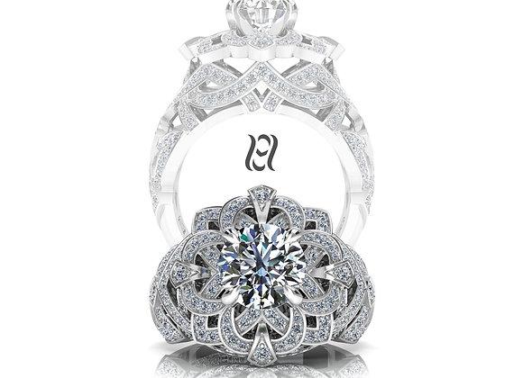 Hermazi® 'Gardenia' Diamond Ring