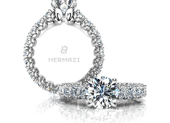 Hermazi® 'Admire' Eternity Diamond Engagement Ring