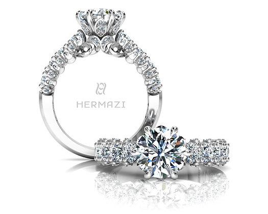 Hermazi® 'Stunning' Halfway Diamond Engagement Ring