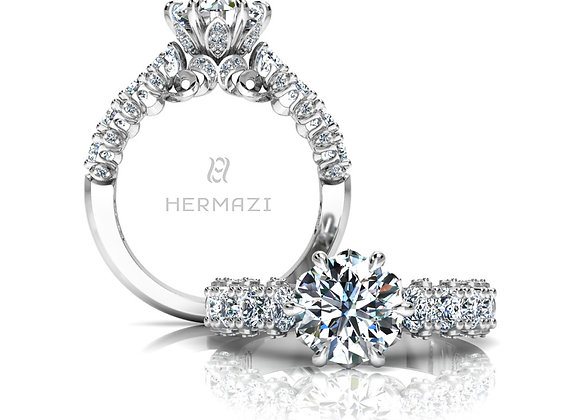 Hermazi® 'Stunning' Halfway Diamond Engagement Ring