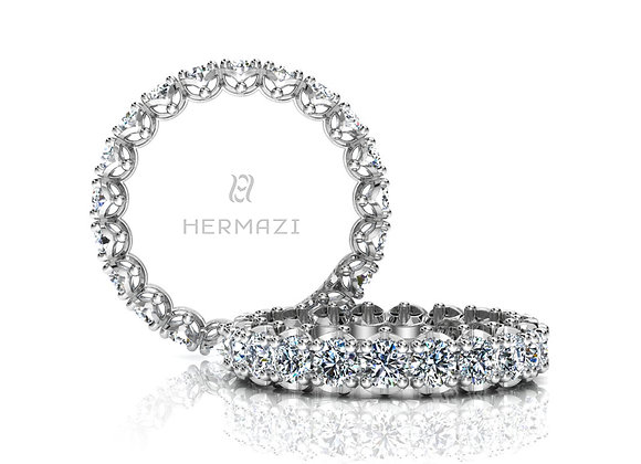 Hermazi® 'Serene' Eternity Diamond Band