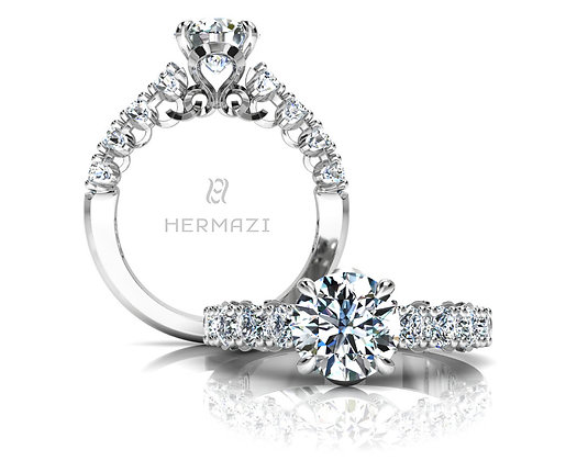 Hermazi® 'Unimaginable' Halfway Ring