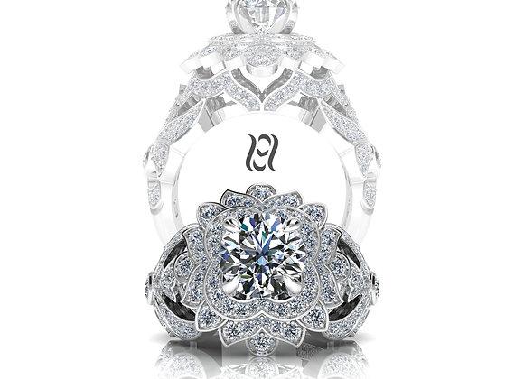Hermazi® 'Peony' Diamond Ring