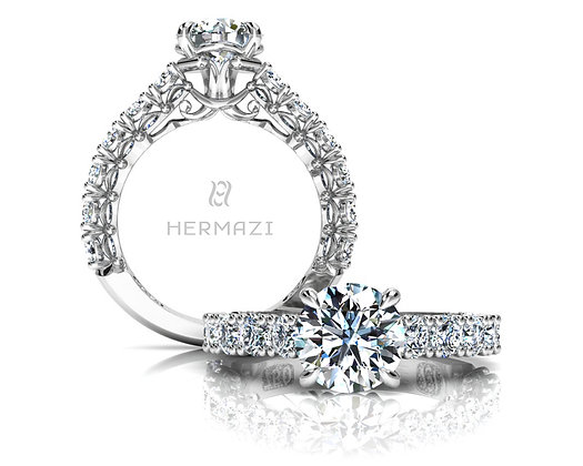 Hermazi® 'Noble' Three-Quarter Way Ring