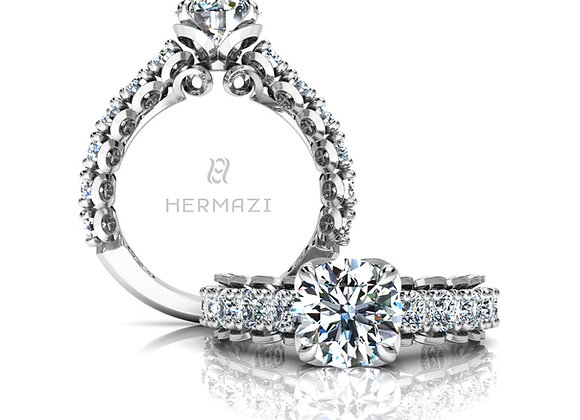 Hermazi® 'Infatuate' Three-Quarter Way Diamond Engagement Ring