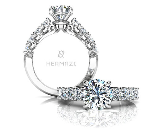 Hermazi® 'Devotion' Halfway Ring