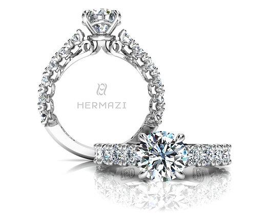 Hermazi® 'Devotion' Three-Quarter Way Ring