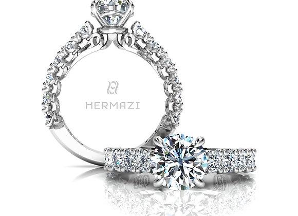 Hermazi® 'Devotion' Three-Quarter Way Engagement Ring