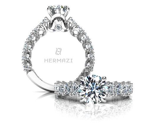 Hermazi® 'Elegance' Three-Quarter Way Ring