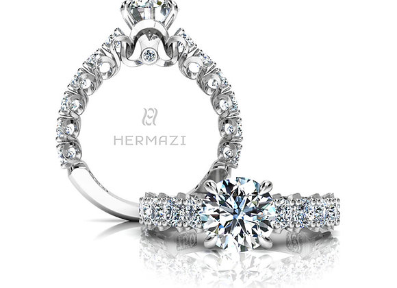 Hermazi® 'Elegance' Three-Quarter Way Ring