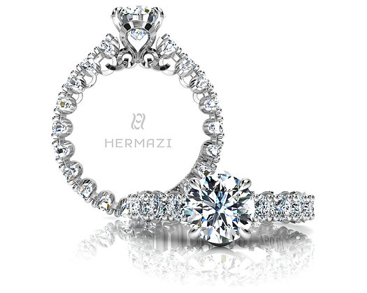 Hermazi®'Unimaginable' Eternity Diamond Engagement Ring