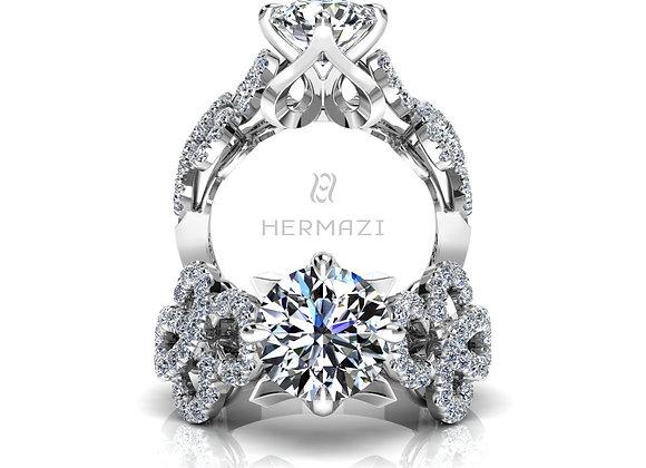 Hermazi® 'Échappe' Diamond Engagement Ring