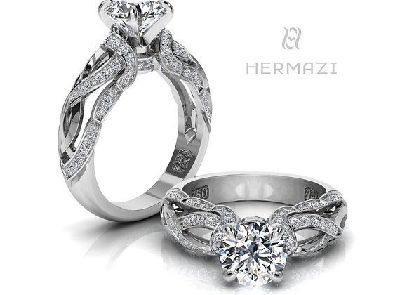 Hermazi® 'Sage Honey I.' Diamond Engagement Ring