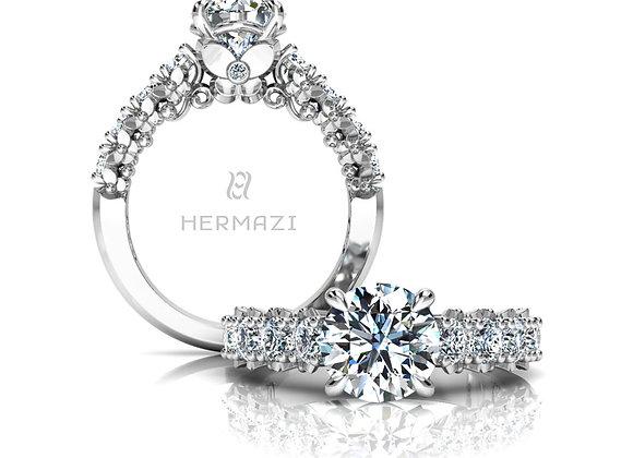 Hermazi® 'Blissful' Halfway Ring