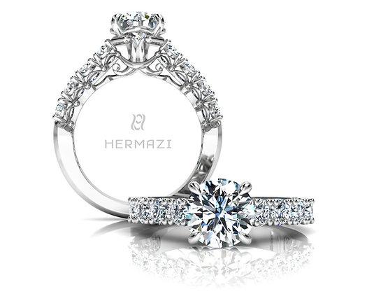 Hermazi® 'Noble' Halfway Ring