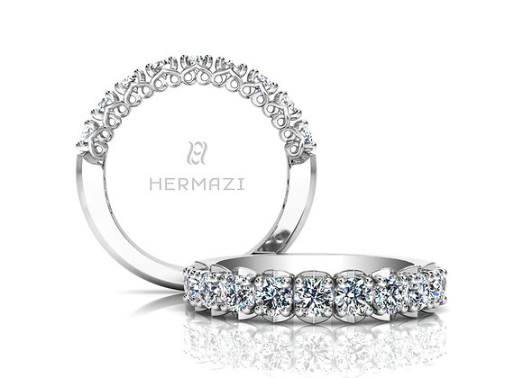 Hermazi® 'Unconditional' Halfway Diamond Band