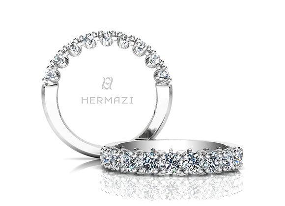 Hermazi® 'Unimaginable' Halfway Diamond Engagement Ring
