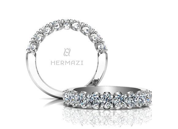 Hermazi® 'Elegance' Halfway Diamond Band