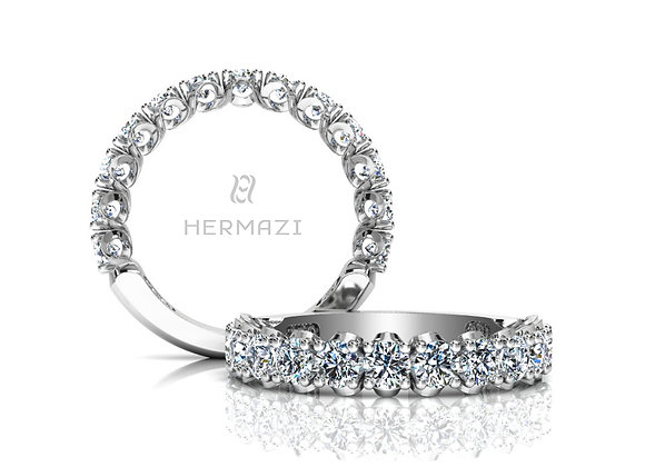 Hermazi®'Elegance' Three-Quarter Way Diamond Band