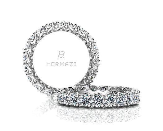 Hermazi® 'Embrace' Eternity Diamond Band