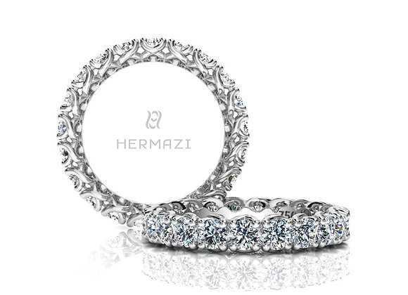 Hermazi® 'Embrace' Eternity Diamond Band