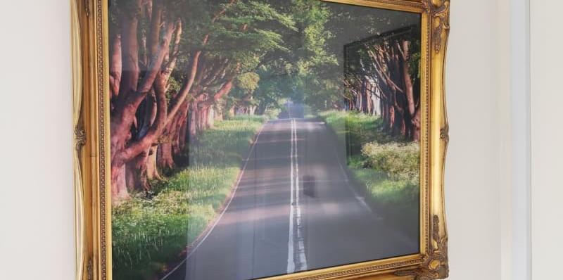 Image of a road in a fancy frame.jpg