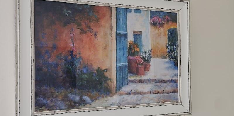 framed artwork depicting a street.jpg