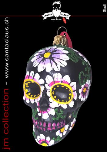 jm Kollektion - Weihnachtskugeln Skull