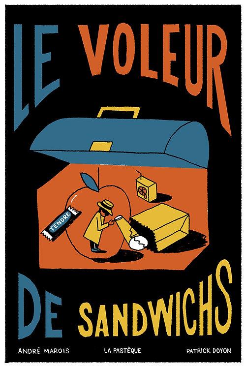 Sérigraphie Le voleur de sandwichs - Vincent Tourigny